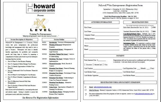 HCC NxLevel Training Flyer