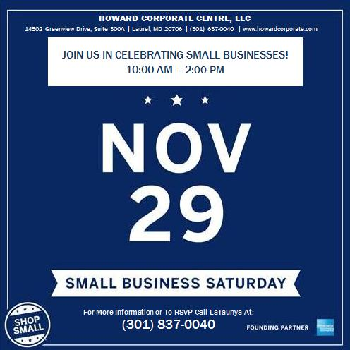 HCC Small Business Saturday Flyer